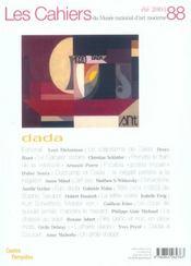 Cahiers Du Musee National D'Art Moderne N.88 ; Eté 2004 ; Dada - 4ème de couverture - Format classique