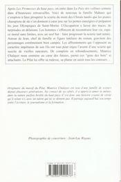 Paix Des Collines (La) - 4ème de couverture - Format classique