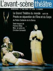 Le grand theatre du monde ; proces en separation de l'ame et du corps - Couverture - Format classique