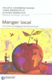 Manger local - un choix ecologique et economique - Intérieur - Format classique