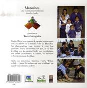 Morochos ; une communauté indienne dans les andes - 4ème de couverture - Format classique