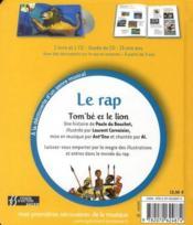 Le rap ; Tom'bé et le lion - 4ème de couverture - Format classique
