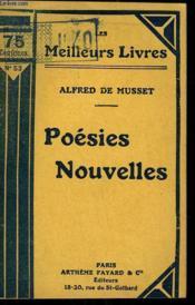Poesies Nouvelles. Collection : Les Meilleurs Livres N° 53. - Couverture - Format classique