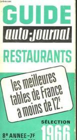 Guide Auto-Journal, Restaurants, 1966 - Couverture - Format classique
