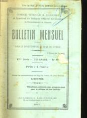 Bulletin Mensuel - 37eme Serie - Decembre - N°12 - Couverture - Format classique
