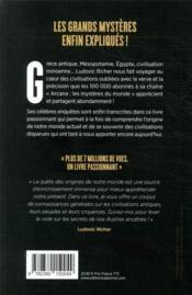 Arcana : les mystères du monde, les civilisations oubliées - 4ème de couverture - Format classique