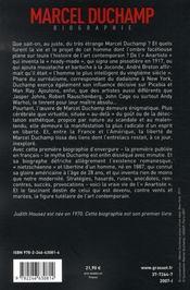 Marcel duchamp - 4ème de couverture - Format classique