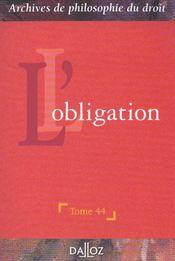 L'obligation - Intérieur - Format classique