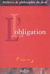 L'obligation - Couverture - Format classique