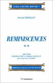 Reminiscences. 2 - Couverture - Format classique