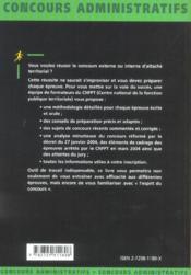 Attache Territorial Categorie A Presentation Du Concours Reforme Et Recadre En 2004 Methodologie - 4ème de couverture - Format classique