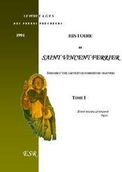 Histoire De Saint Vincent Ferrier - Couverture - Format classique