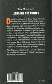 Librairie Des Pentes - 4ème de couverture - Format classique