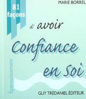 81 Facons D'Avoir Confiance En Soi - Intérieur - Format classique
