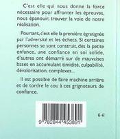 81 Facons D'Avoir Confiance En Soi - 4ème de couverture - Format classique