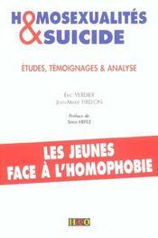 Homosexualites et suicides - Intérieur - Format classique