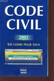 Code Civil 2002 - Couverture - Format classique