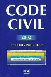 Code Civil 2002 - Intérieur - Format classique
