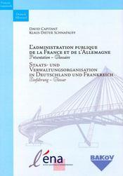 L'administration publique de la france et de l'allemagne ; présentation, glossaire - Intérieur - Format classique