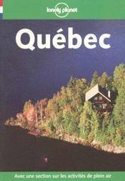 Quebec ; 3e Edition - Intérieur - Format classique