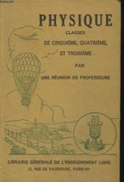 Cours De Physique. Enseigement Primaire, Secondaire Et Technique. - Couverture - Format classique