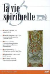 La Vie Spirituelle Vs772 - Couverture - Format classique