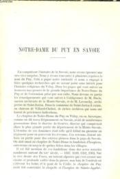 Notre-Dame Du Puy En Savoie / Confrerie De Notre-Dame Du Puy A Limoges / Reunion De La Societe Geologique De France Au Puy / L'Elephant De Seneze - Couverture - Format classique