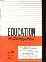 Education Et Developpement N°48 - Couverture - Format classique