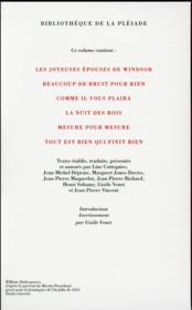 Comédies t.2 - 4ème de couverture - Format classique
