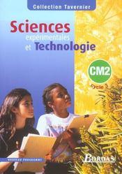 Sciences expérimentales et technologie ; CM2 ; manuel de l'élève (édition 2002) - Intérieur - Format classique