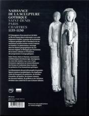 Naissance de la sculpture gothique - 4ème de couverture - Format classique
