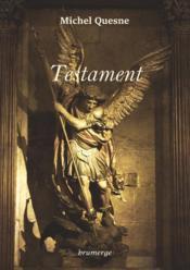 Testament - Couverture - Format classique
