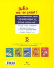 Julie mal en point - 4ème de couverture - Format classique