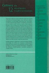 Cahiers Mt12 ; Noter La Musique - 4ème de couverture - Format classique