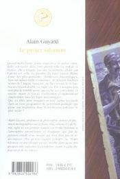 Projet salomon (le) - 4ème de couverture - Format classique