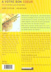 A Votre Bon Coeur - 4ème de couverture - Format classique