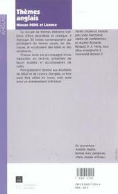 Theme anglais deug licence - 4ème de couverture - Format classique