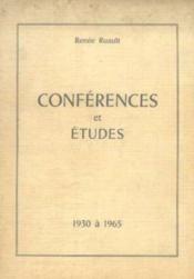 Conférences et études, 1930 à 1965 - Couverture - Format classique