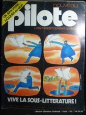 Revue Pilote n°744 L'analphabétisme qui monte. VIve la sous-littérature ! Couverture de Folon - Couverture - Format classique
