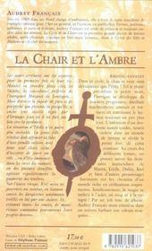 Chair et l'ambre (la)- cycle de la chait t2 - 4ème de couverture - Format classique