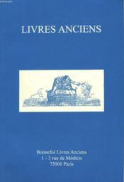 Livres Anciens . Catalogue N°110. - Couverture - Format classique