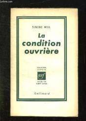 La Condition Ouvriere. - Couverture - Format classique