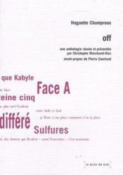Off ; une anthologie réunie par Christophe Marchand ; kiss - Couverture - Format classique
