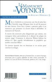 Le manuscrit de Voynich - 4ème de couverture - Format classique