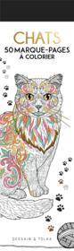 Chats ; 50 marque-pages à colorier - Couverture - Format classique