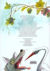 Contes et fables de toujours ; fables de La Fontaine - 4ème de couverture - Format classique