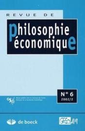 Revue De Philosophie Economique N.6 - Couverture - Format classique