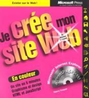Je Cree Mon Site Web - Couverture - Format classique