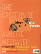 Centre georges pompidou - 4ème de couverture - Format classique