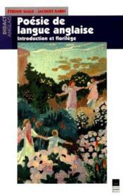La Poesie De La Langue Anglaise - Couverture - Format classique